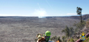 Kilauea Caldera, with Halema'uma'u Crater in the background