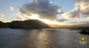 Nawiliwili Bay - Landing in Kauai at sunset