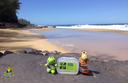 Geocaching on Lumaha'i Beach