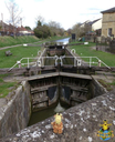 The locks on the Kennet and Avon Canal in Devizes, Wiltshire