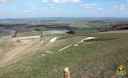 The famous White Horse at Uffington, Oxfordshire